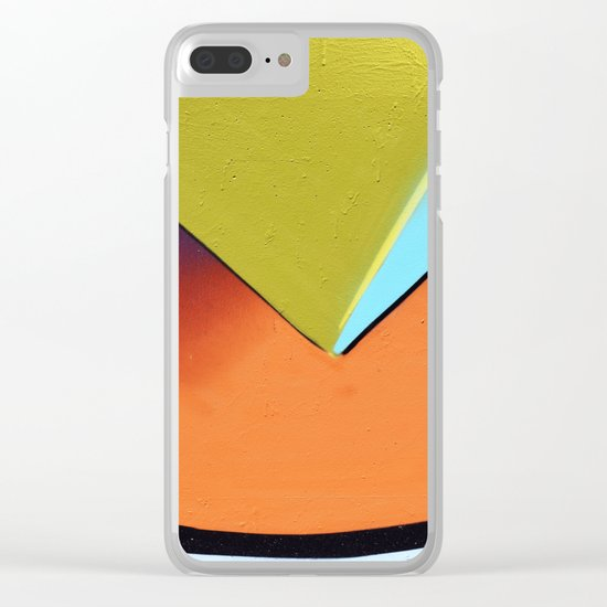shapes orange yellow Clear iPhone Case