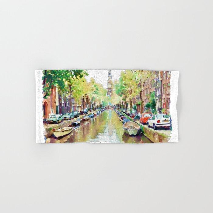 Amsterdam Canal 2 Hand & Bath Towel