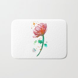 Warm Watercolour Fiordland Flower Bath Mat