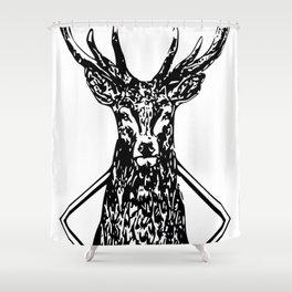 Diamond Stag Shower Curtain