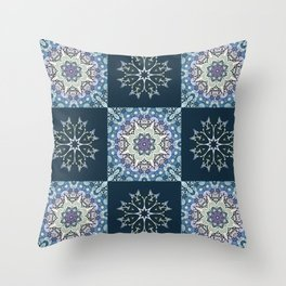 handdrawn abstract winter pattern Throw Pillow
