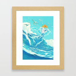 Marine bride Framed Art Print