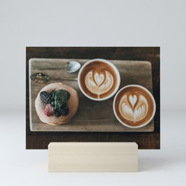 Latte + Pastry Mini Art Print