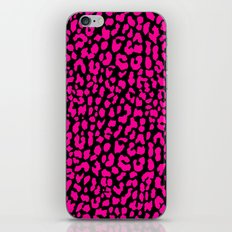 Pink Black Leopard iPhone Skin