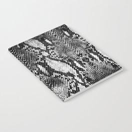 Black and White Snake Skin Print Notebook