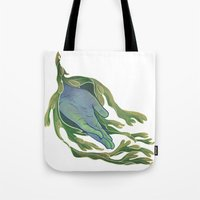 let it go Tote Bags featuring Let Go by Rhea Ewing