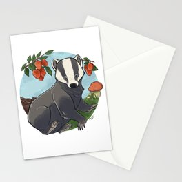 Autumnal Badger Stationery Cards