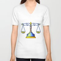 scales V-neck T-shirts featuring Scales Knot by Knot Your World