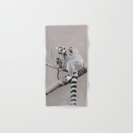 LEMURS by Monika Strigel Hand & Bath Towel