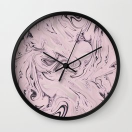 Retro Style Marble Soft Pastel Wall Clock