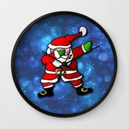 Christmas Santa Dance Dab Wall Clock
