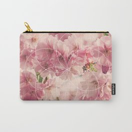 Flower of Life Cherry Blossom Carry-All Pouch