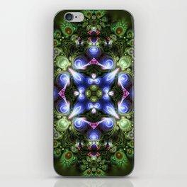 Fractal Forest Indigo iPhone Skin
