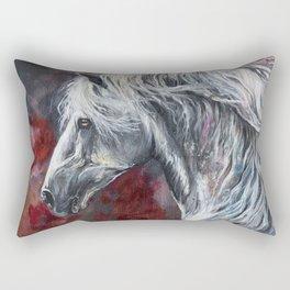 Grey horse Rectangular Pillow