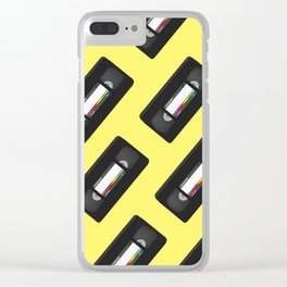 VHS Tape (Yellow) Clear iPhone Case
