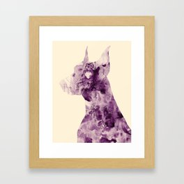 Doberman Sightings Framed Art Print