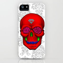 FLOWER SKULL iPhone Case