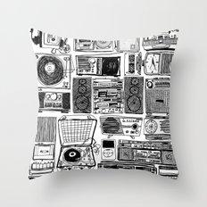 Music Boxes Throw Pillow