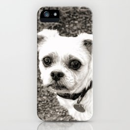 Molly black and white iPhone Case