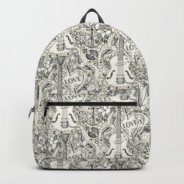 rockabilly doodle pearl Backpack
