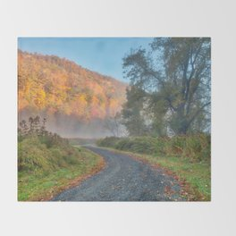 Misty Autumn McDade Trail Throw Blanket