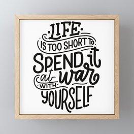 Life is too Short Body Positivity Framed Mini Art Print
