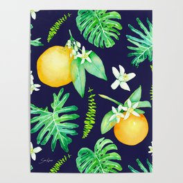 Citrus Tropics - Midnight Poster