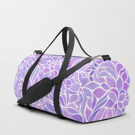 Press of Leaves - Lilac Duffle Bag