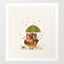 La pluie c'est chouette Art Print