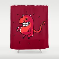 diablo Shower Curtains featuring Diablo by sitnuna