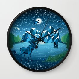 Fireflies Like Stars Wall Clock