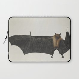 Antique bat vintage nature book plate drawing victorian art nouveau steampunk oddities emo goth Laptop Sleeve