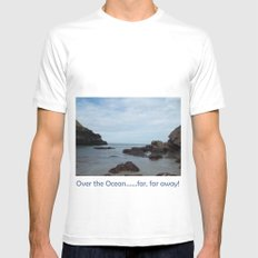 Out To Sea! White Mens Fitted Tee MEDIUM