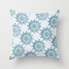 Snowglobe Whimsey Catholic Christmas Throw Pillow