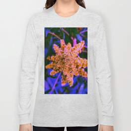 Yellow, Pink, and Blue Sumac Bloom Long Sleeve T-shirt