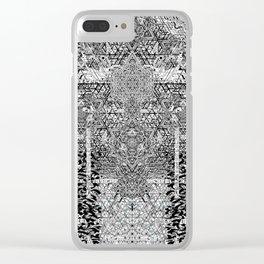 geometric art poster 2 Clear iPhone Case