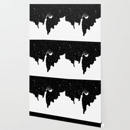 Space Paint Milky Way Cat Wallpaper