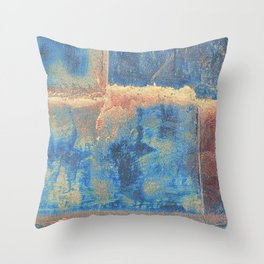 Rusted Metal Plates Abstract Throw Pillow