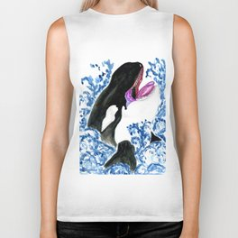 Orca illustration Biker Tank