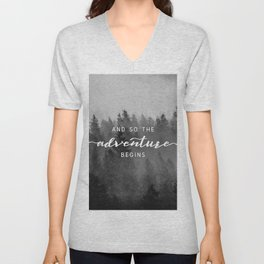 And So The Adventure Begins III Unisex V-Neck