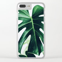 spring monstera Clear iPhone Case