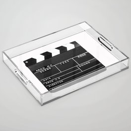 Film Movie Video production Clapper board Acrylic Tray