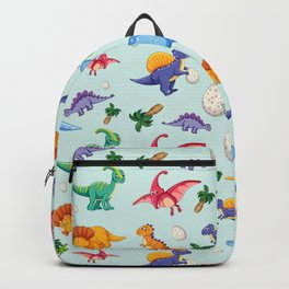 Colorful Cute Dinosaur Pattern Backpack