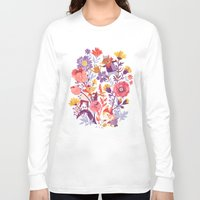 animal crew Long Sleeve T-shirts featuring The Garden Crew by Teagan White