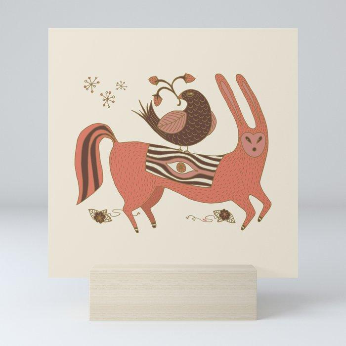 All Seeing Beast of Burden Mini Art Print
