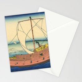 Katsushika Hokusai - 36 Views of Mount Fuji (1832) - 20: The Kazusa Province sea route Stationery Cards