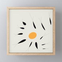 fish and yellow Framed Mini Art Print