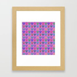 Pachiderms Of The Rainbow Nation Framed Art Print