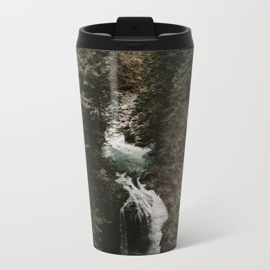Forest Fall Metal Travel Mug