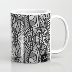 Roller Coaster Black and White Mug